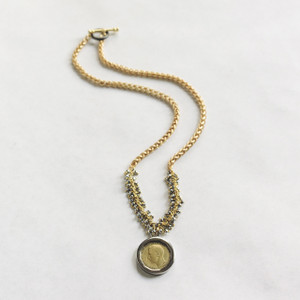 Coin and Pyrite Necklace