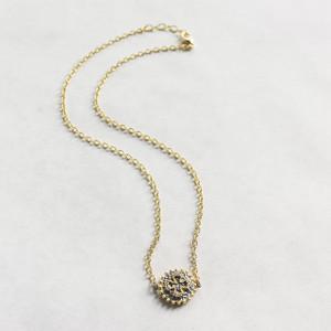 CZ Disc Necklace