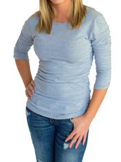 Jersey Shirred Shirt