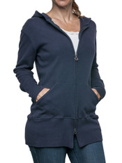 Tunic Length Zip Hoody