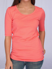 Jersey Tunic Length U-Neck Tee