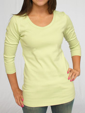 Tunic Length U-Neck Tee