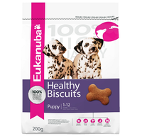 Eukanuba Healthy Biscuit Puppy Dog Treats - 200g