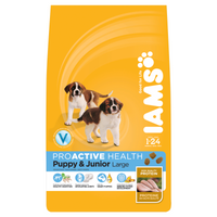Iams Puppy/Junior Large Breed Chicken Dry Dog Food - 12kg