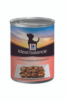 Hills Ideal Balance Salmon & Veg Dog Cans 12 Pack - 363g