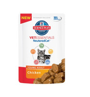 Hills VetEssentials Young Adult Neutered Chicken 12Pack Cat Food - 85g