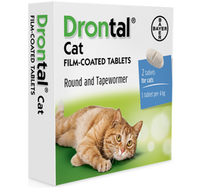 Drontal Worming Tablets for Cats and Kittens (2-4kg) -1 Tablet