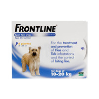 Frontline Spot On Flea Drops for Medium Dogs and Puppies (10-20kg) - 6Pack
