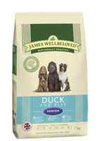 James Wellbeloved Duck & Rice Senior Dry Dog Food - 15kg