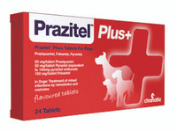 Prazitel Plus+ Worming Flavoured Tablets for Dogs - 1 Tablet