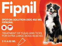 Fipnil Spot-On Flea Treatment for Extra Large Dogs and Puppies (40-60kg) - 3 Pack