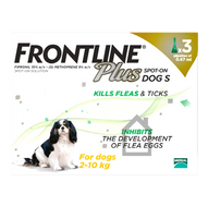Frontline Plus Spot On Flea Drops for Small Dogs (2-10kg) - 3 Pack