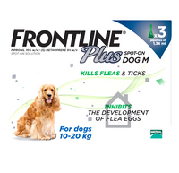 Frontline Plus Spot On Flea Drops for Medium Dogs (10-20kg)- 3 Pack
