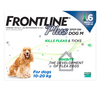 Frontline Plus Spot On Flea Drops for Medium Dogs (10-20kg)- 6 Pack