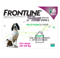Frontline Plus Spot On Flea Drops for Large Dogs (20-40kg)- 6 Pack
