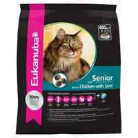 Eukanuba Chicken with Liver Senior Dry Cat Food - 2kg
