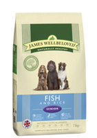 James Wellbeloved Fish & Rice Senior Dry Dog Food - 15kg