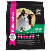 Eukanuba Hairball Control Dry Cat Food for Indoor Cats - 2kg