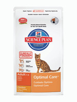 Hills Science Plan Adult Optimal Care Chicken Dry Cat Food - 2kg