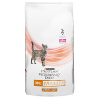 Purina Veterinary Diet Feline OM ST/OX Obesity Management Dry Cat Food - 5Kg