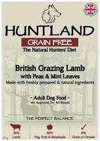 Huntland Adult British Lamb Grain Free Dog Food - 12kg