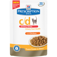 Hills Prescription Diet C/D Urinary Stress Chicken Cat Food Pouches