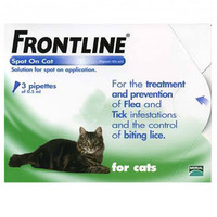 Frontline Spot On Flea Drops for Cats and Kittens - 6Pack