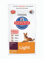 Hills Science Plan Adult Light Dry Dog Food - 12kg