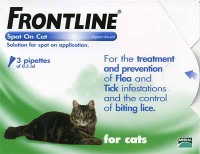 Frontline Spot On Flea Drops for Cats and Kittens - 3Pack