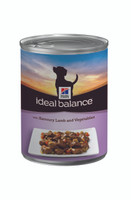 Hills Ideal Balance Lamb & Veg Dog Cans 12 Pack - 363g