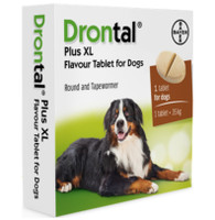 Drontal Plus XL Worming Tablets for Larger Dogs and Puppies (17.5kg+) - 1 Tablet