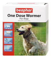 Beaphar One Dose Wormer for Large Dogs - 4 Pack