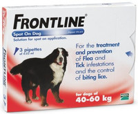 Frontline Spot On Flea Drops for Extra Large Breed Dogs and Puppies (40-60kg) - 3Pack