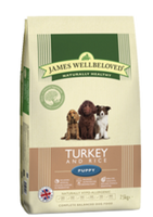 James Wellbeloved Turkey & Rice Puppy Dry Dog Food - 15kg