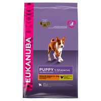 Eukanuba Medium Breed Complete Dry Puppy Food - 12kg
