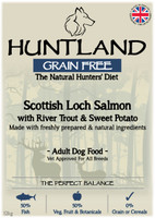 Huntland Adult Scottish Salmon Grain Free Dog Food - 12kg
