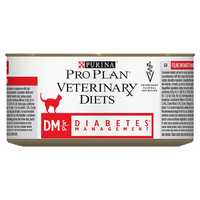 Purina Veterinary Diet Feline DM ST/OX Diabetes Management Wet Cat Food - 24 x 195G