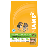 Iams Puppy/Junior Small/Medium Chicken Dry Dog Food - 12kg