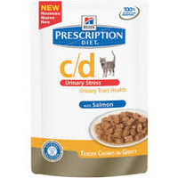 Hills Prescription Diet C/D Urinary Stress Salmon Cat Food Pouches