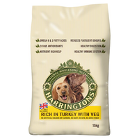 Harringtons Turkey & Veg Dry Dog Food - 15kg