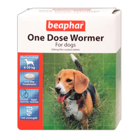 Beaphar One Dose Wormer for Medium Dogs - 2 Pack