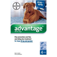 Advantage 400 Spot On Flea Drops for Very Large Dogs (25-40kg) - 4Pack