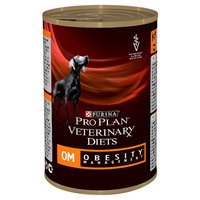 Purina Veterinary Diet Canine OM ST/OX Obesity Management Wet Dog Food - 12 x 400G