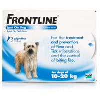 Frontline Spot On Flea Drops for Medium Dogs and Puppies (10-20kg) - 3Pack