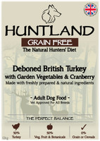 Huntland Adult British Turkey Grain Free Dog Food - 12kg