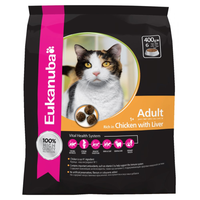 Eukanuba Chicken with Liver Dry Cat Food  - 400g