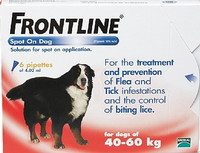 Frontline Spot On Flea Drops for Extra Large Breed Dogs and Puppies (40-60kg) - 6Pack