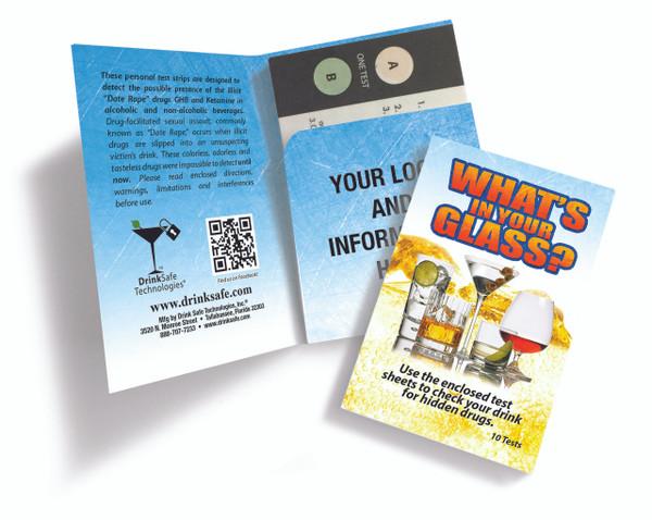 20 Test Kit, Date Rape Drug Test (10 Strips / 20 Tests)