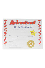 Animaland Birth Certificate and Stars Pre-Pack
