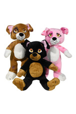 Poochie - assortment of three(6PCS = 1 PINK, 4 BROWN, AND 1 BLACK)